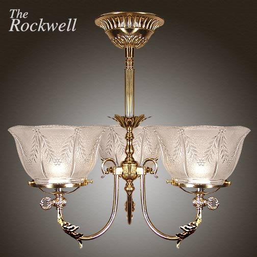 Model NSH3 'The Rockwell' Victorian Short Chandelier